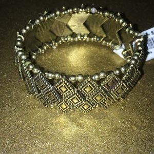 SFL Gold Stretch Bracelet